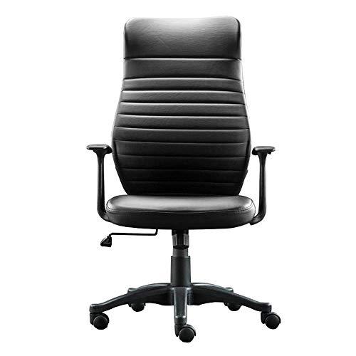Comif-Chaise de bureau en Tissu à Haute densité, Chaise pour Ordinateur à la Maison, Hauteur réglable, accoudoir en Forme de L, Coussin Coussin en Coton indigène D28 (Noir, Rouge)