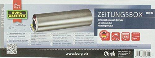 BURG-WÄCHTER Edelstahl Zeitungsbox A4 Einwurf-Format Edelstahl 3800 Ni - 5