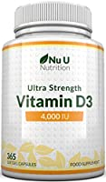 ✔ QUADRUPLE STRENGTH D3 - Our ultra strength Vitamin D3 4000 IU supplement is one of the most powerful formulations available. Offering FOUR TIMES the strength of regular vit d products which offer 1000 IU per softgel you would need to take 4 to achi...