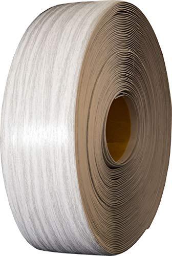 Weichsockelleiste, PVC, selbstklebend, 25m, versch. Farben, Sockelleiste Winkelprofil Abschlussleiste Bodenleiste (esche-grau)