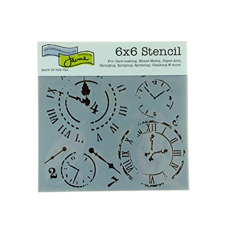 CRAFTERS WORKSHOP Template, 6 by 6-Inch, Time Travel