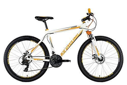 KS Cycling Mountainbike Hardtail 26'' Compound weiß-orange RH 53 cm
