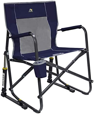 Best GCI Outdoor Freestyle Rocker Portable Folding Rocking Chair, Indigo