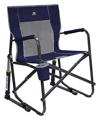 GCI Outdoor Freestyle Rocker Portable Folding Rocking Chair, Indigo