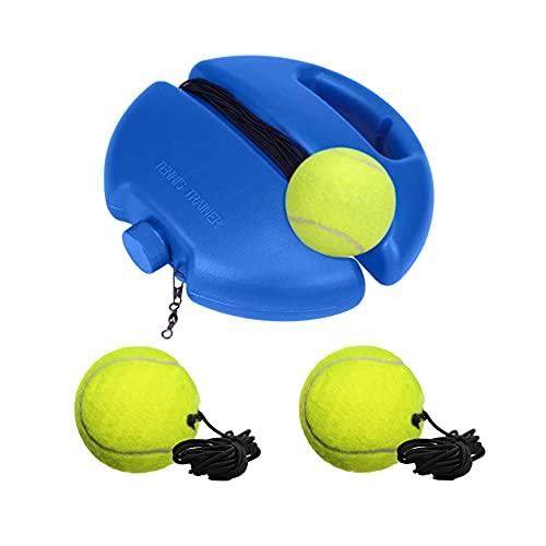 Trsnzul Entrenador de Tenis Pelota de Entrenamiento de Tenis Entrenamiento de Tenis Equipo de Entrenamiento de Tenis con 3 Pelotas Que Rebotan para Principiantes y Niños y Adultos