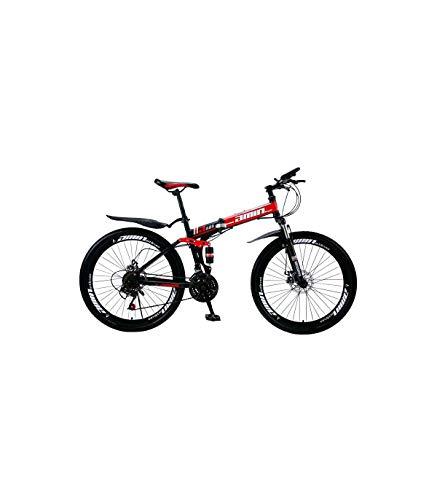 Grupo K-2 Wonduu Bicicleta De Montaña Urbana Plegable Mountain City Azul, Blanco, Rojo