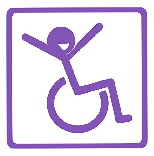 【全16色】車椅子マーク/車イス サイン/カー ステッカー/Car/リラックス/車用/シール/Vinyl/Decal/バイナル/デカール/-2 (パープル) [並行輸入品]