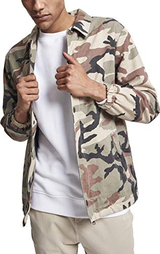Urban Classics Herren Cotton Coach Jacket Jacke, Mehrfarbig (Wood Camo 00396), M