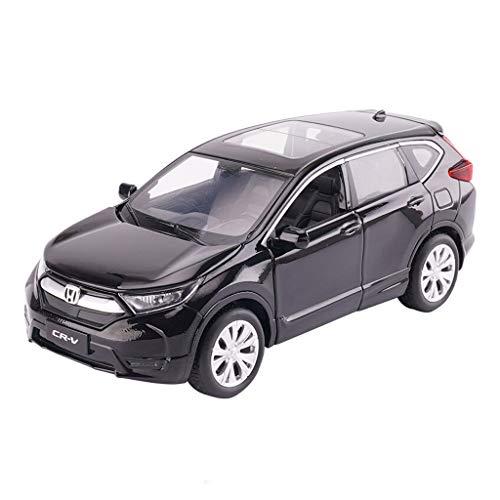 Xuping shop Modelauto, 1:32 Hon-da CRV-metaalsimulatie drukgietijzeren miniatuur, 6-deurs geluid en licht-pul-back-model-terreinwagen-speelgoeddisplay