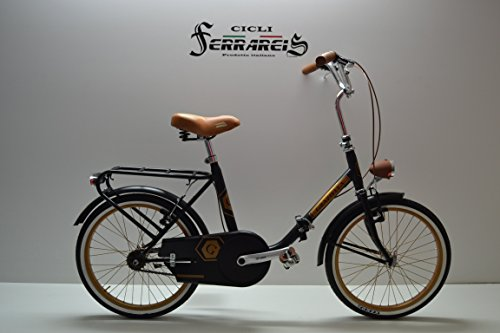 Cicli Ferrareis Graziella 20 Nero Marrone Bicicletta richiudibile Bici Personalizzabile