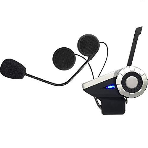 Casque de Moto Bluetooth Intercom FM Radio Communication Systèmes Étanches avec Les Mains Appel Gratuit Mic Soutien 8 Personnes Connexion