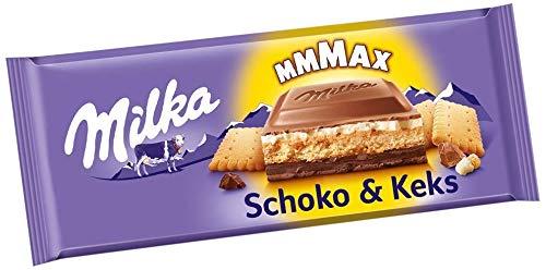 Milka Schoko und Keks 12 x 300g Großtafel, Zartschmelzende Schokoladentafel mit knusprigem Keks