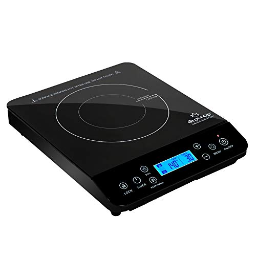 Duxtop Portable Induction Cooktop, Countertop Burner Induction Hot Plate with LCD Sensor Touch 1800 Watts, Black