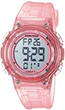 Armitron Sport Women's 45/7086TPK Digital Chronograph Translucent Pink Resin Strap Watch