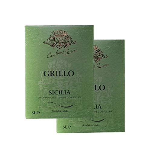 Weißwein Italien Grillo Sicilia Bag-in Box trocken (2x5,0L)
