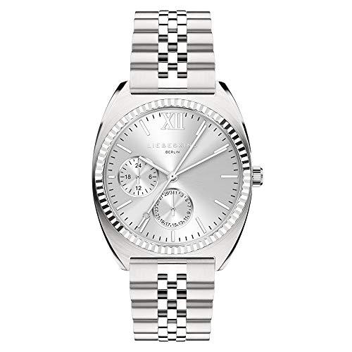 Liebeskind Berlin Damen Analog Quarz Uhr mit Edelstahl Armband LT-0259-MM
