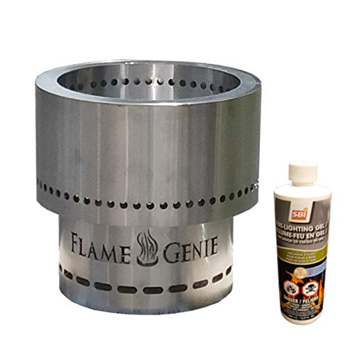 For Sale! Rockford Chimney Supply Flame Genie Fire Pit – Regular Size Stainless Steel Wood Pellet ...
