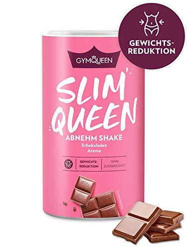 GymQueen Slim Queen Abnehm Shake 420g | Leckerer Diät-Shake zum einfachen Abnehmen | Mahlzeitersatz mit wichtigen Vitaminen und Nährstoffen | nur 250 kcal pro Portion & ohne Zucker-Zusatz | Schokolade