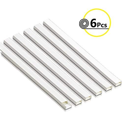 Lot de 3 x Couvercle /à charni/ère Blanc c/âble Trunking Autocollant PVC 12/mm x 7/mm x 1/metre