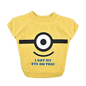 Minions The Rise of Gru Despicable Me Yellow Dog T Shirt, XLarge | Extra Large Dog T Shirt for Medium Dogs I've Got My Eye On You | XL Dog Shirt, Large Dog Clothes Apparel & Accessories