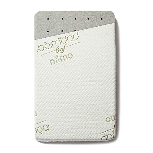 Niimo Matratze Memory Feuerfest für Beistellbett 80x53 cm kompatibel mit Chicco Next2Me Kinderkraft UNO und andere 6cm Dicker zusätzlicher und Matratzenbezug aus Bamboo (Niiboo Memory)
