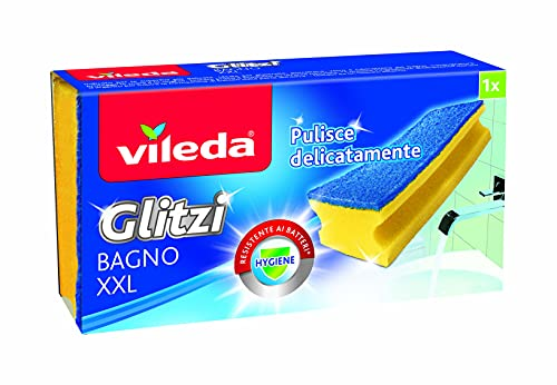 Vileda Glitzi Bagno Spugna, Giallo/Blu, 8x15x4.5 cm
