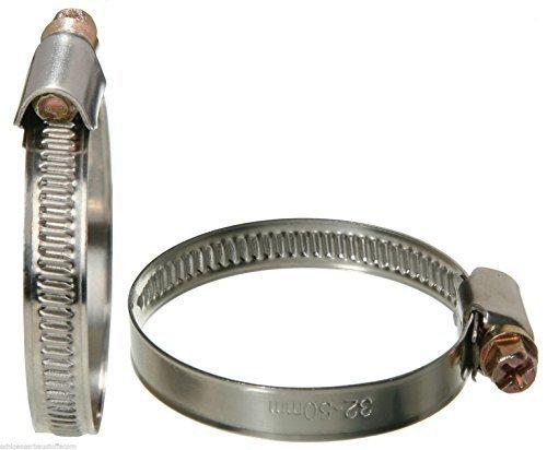 SBS® 10 Stück Schlauchschellen 10 Stück Edelstahl INOX Bandbreite 12mm 16-27 mm W2 rostfrei10