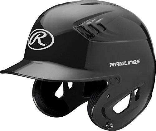 Rawlings Clear Coat Alpha Sized Batting Helmet, Black, Small