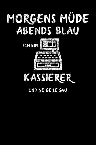 Kassierer: Lustiges A5 Notizbuch Demi Raster / Karo / Kariert 120 Seiten für den Kassierer