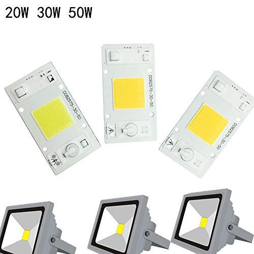 Kiods LED-strips, zonder drivers, 50 W, 30 W, 20 W, 230 V, 220 V, ingang chip met hoge lumen voor doe-het-zelf LED-projector, spots