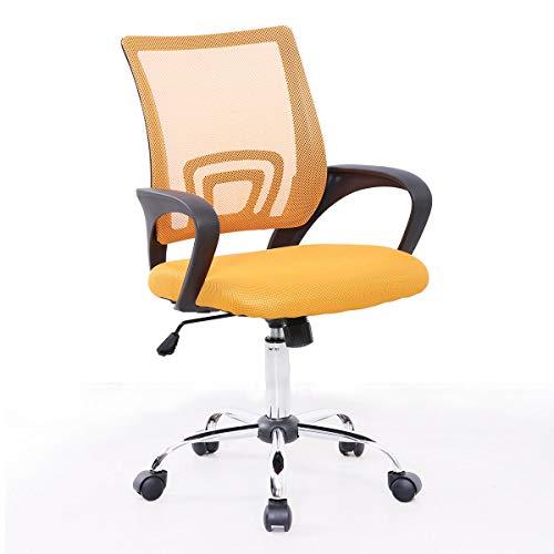 SVITA Cydney Kinder Schreibtischstuhl Bürostuhl Netzbezug Drehstuhl Stuhl Schreibtisch (Gelb)