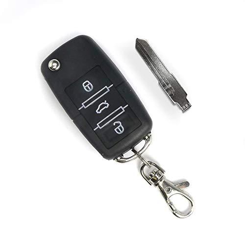 JOM Car Parts & Car Hifi GmbH Handsender mit 3 Knopf Funktion, Klappschlüssel mit Platz für Transponder, schwarz
