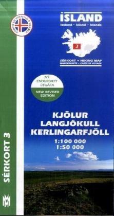 Kjölur - Langjökull 1 : 100 000