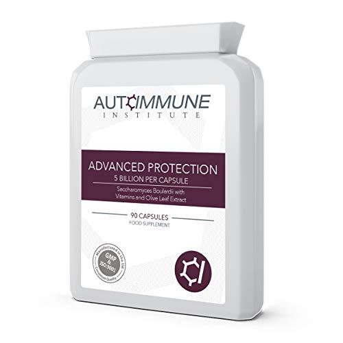 Advanced Protection. Saccharomyces Boulardii Supplement (250mg, 5 Billion CFU). 90 Easy to Swallow Capsules of High Strength S Boulardii.