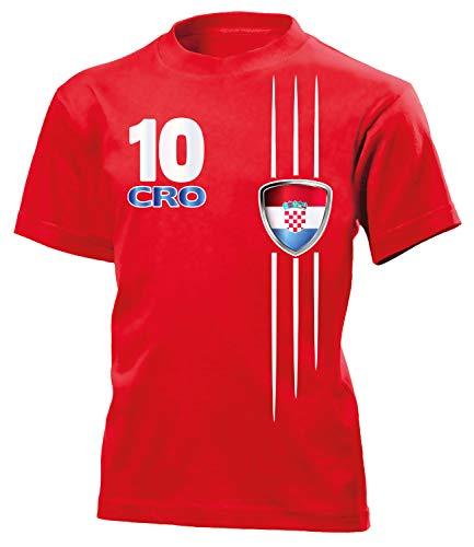 Kroatien Croatia Hrvatska Fanshirt Fussball Fußball Trikot Look Jersey Kinder Kids Unisex t Shirt Tshirt t-Shirt Fan Fanartikel Outfit Bekleidung Oberteil Hemd Artikel