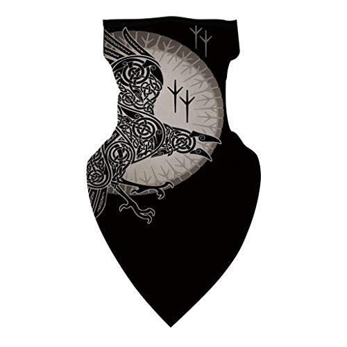 Andouy Kopftuch Bandana Mode Halstuch Stirnband Unisex Schlauchtuch Schal Kopfbedeckung Halsmanschette Frauen Männer Multifunktionstuch(23.5X45CM.X)