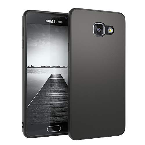 EAZY CASE Handyhülle Silikon mit Kameraschutz kompatibel mit Samsung Galaxy A3 (2016) in schwarz matt, Ultra dünn, Slimcover, Silikonhülle, Hülle, Softcase, Backcover