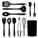 Silicone Utensils Cooking Set Cooking Utensils Set Silicone - 11Piece, BPA Free Silicone Cooking...