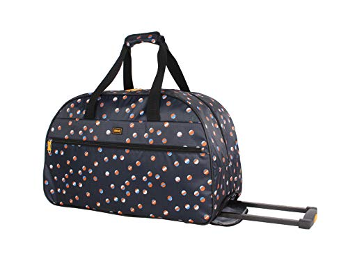 Lucas Designer Carry On Luggage Collection - Lightweight Pattern 22 Inch Duffel Bag- Weekender Overnight Business Travel Suitcase with 2- Rolling Spinner Wheels (Spot-Light)