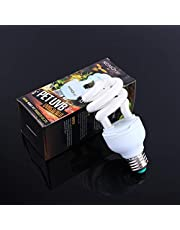 YOUTHINK Lámpara de Terrario Tropical 13W Uvb 5.0 E27 Base Ahorro de Energía Tortuga Serpiente Reptil Bombilla Lámpara UV Bombilla Fluorescente Compacta