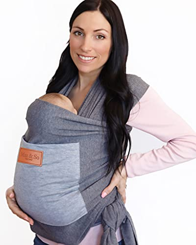 Baby Wrap Carrier with Front Pocket - Premium Cotton Baby Sling - One Size Fits All - Baby Carriers for Newborn, Infant - Soft Baby Wearing Carriers to Keeps Your Child Close for Bonding
