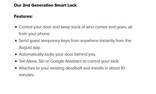 Serrure connectée August Smart Lock Homekit 4