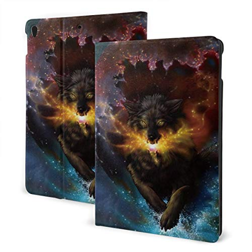 Baliboon Wolf Galaxy Fire Ipad Case Anti-Slip Lining Protective Case Multi-Angle Support Shell Stand Cover 360 Degree Rotating Ipad Air Case Protector with Auto Wake/Sleep for Ipad Air3/Pro 10.5 in