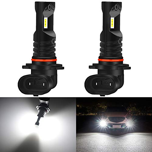 KATUR 9005 HB3 LED Ampoule antibrouillard 1600 Lumens Max 80W CSP Puces 6500K Lumière de Brouillard Blanche au xénon ou feu diurne DRL - Garantie de 3 Ans