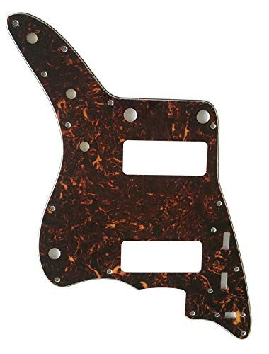 For US Jazzmaster P90 Guitar Pickguard Scratch Plate (4 Ply Brown Tortoise)