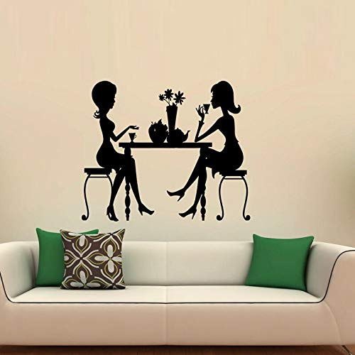 Preisvergleich Produktbild yaonuli Mädchen Silhouette Wandaufkleber Home Decoration Wohnzimmer Schlafzimmer Wandbild Bewegliche Wandaufkleber Dekoration 42X21cm