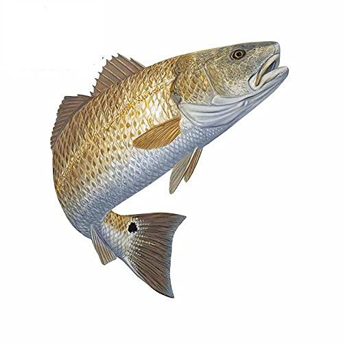 A/X 13 cm 11,9 cm para imitación pez Dorado Nadar Parachoques Coche Pegatinas portátil Personalidad calcomanía