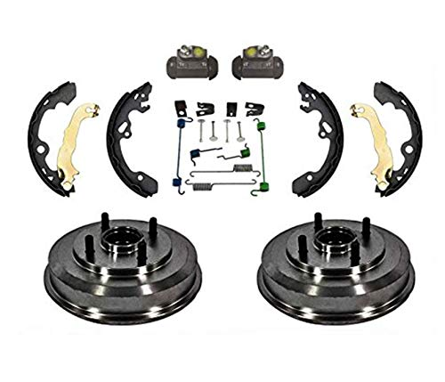 For 00-08 Focus Rear Drum Wheel Bearing Brake Shoe Springs & Wheel Cylinders Kit
