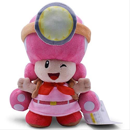 nanyin Super Mario Bros Peluches 18Cm, Sapo Toadette Mushroom Miners Adventure Mochila Muecas De Peluche Suaves