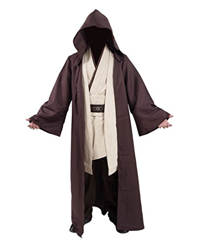 Classic Movie Costume Brown Robe White Tunic and Pants Set Cosplay Outfit (US Men-L, Brown)